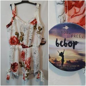 BeBop Floral Shorts Romper